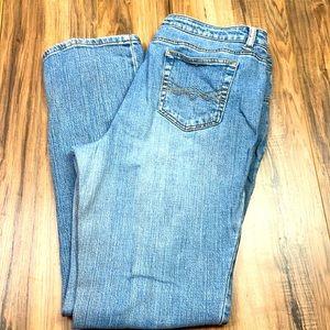 St. John's Bay Straight leg light blue jeans. 16